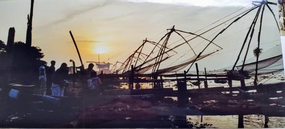 Chinese vissersnetten Kochi